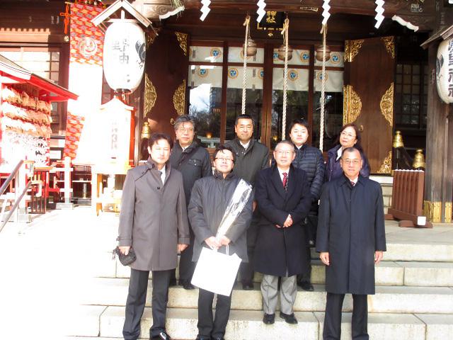 熊野神社様へ安全祈願